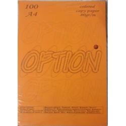 Χαρτί εκτύπωσης Α4 Πορτοκαλί 80gr 100φ