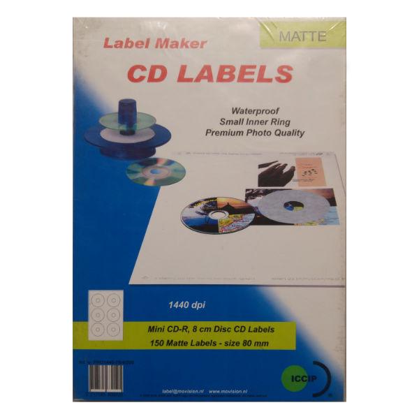 Ετικέτες αδιάβροχες για mini CD, 8cm disks