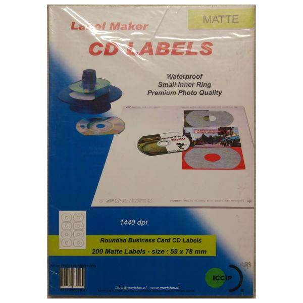 Ετικέτες αδιάβροχες για rounded cd business cards