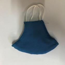 Μάσκα προσώπου παιδική διπλού υφάσματος μπλε (2 τεμ)