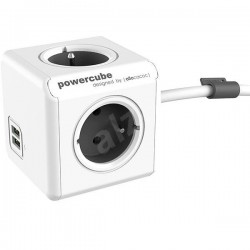 Allocacoc PowerCube Extended USB Grey 3m