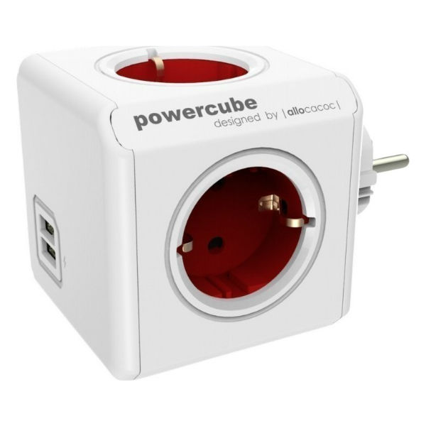 Allocacoc PowerCube Original USB Red
