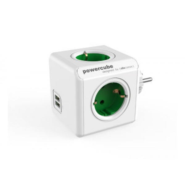 Allocacoc PowerCube Original USB Green