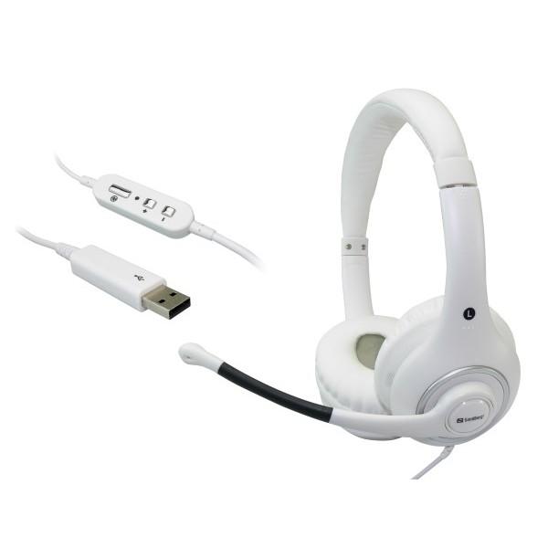 Sandberg Plug'n Talk Headset USB White