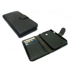 Sandberg Cover wallet S4 skin Black