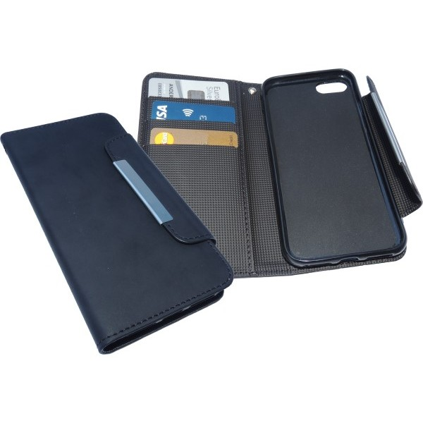 Sandberg Flip wallet iPhone 7 Blackskin