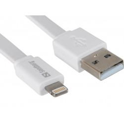 Sandberg USB Lightning Cable Flat 0.15m
