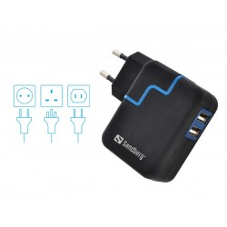 Sandberg Excellence AC 4.8A 2xUSB EU+UK+US