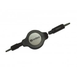 Sandberg Retractable MiniJack M-M 1.5m