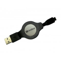 Sandberg Retractable USB 2.0-Micro 1.2m