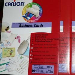 Επαγγελματικές κάρτες Canson 200g