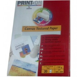 Χαρτί με υφή καμβά Canson 130g