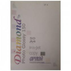 Φωτογραφικό χαρτί Diamond photo glossy photo glossy 150gr 50φ