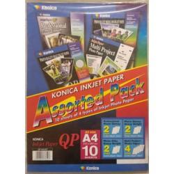 Φωτογραφικό χαρτί Konica 4 είδη Α4 10φ