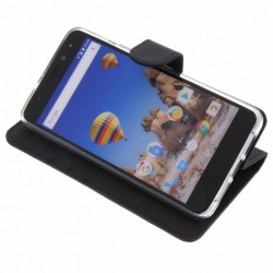 Accezz Booklet Wallet Black General Mobile GM5 Plus