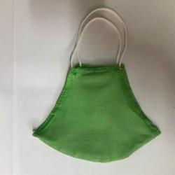 Μάσκα προσώπου διπλού υφάσματος πράσινη (2 τεμ)