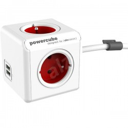 Allocacoc PowerCube Extended USB Red