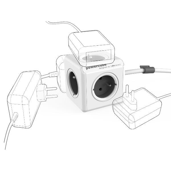 Allocacoc PowerCube Extended Grey