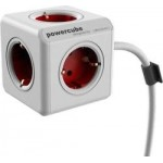 Allocacoc PowerCube Extended Red 3m