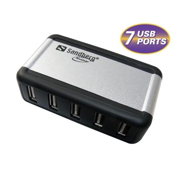 Sandberg USB Hub AluGear (7 ports)